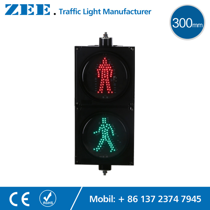 12 inches 300mm LED Pedestrian Traffic Light Walking Man Traffic Signal Light RED Green Traffic Signals Sign led electronic traffic lane control signal traffic lane indicator light with red cross