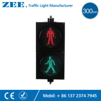 12 Inches 300mm LED Pedestrian Traffic Light Walking Man Traffic Signal Light RED Green Traffic Signals