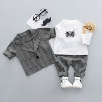 2018 New Spring Fall Toddler Baby Set Boys Gentleman Children S Clothing Set Cotton Suit Shirt