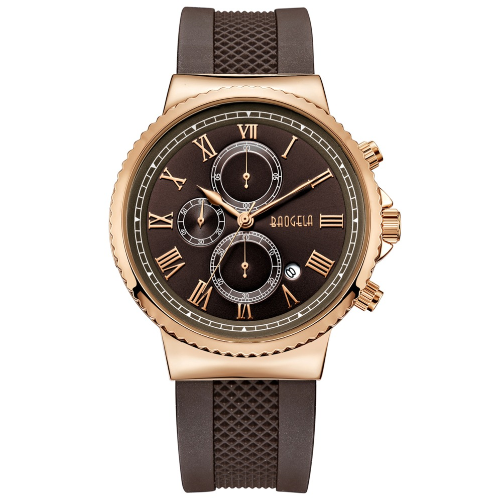 BAOGELA TOP Brand Mens Luxury Quartz Watch Men Chronograph Sport Wristwatch Male Waterproof  Masculino fashion movement CoffeeBAOGELA TOP Brand Mens Luxury Quartz Watch Men Chronograph Sport Wristwatch Male Waterproof  Masculino fashion movement Coffee