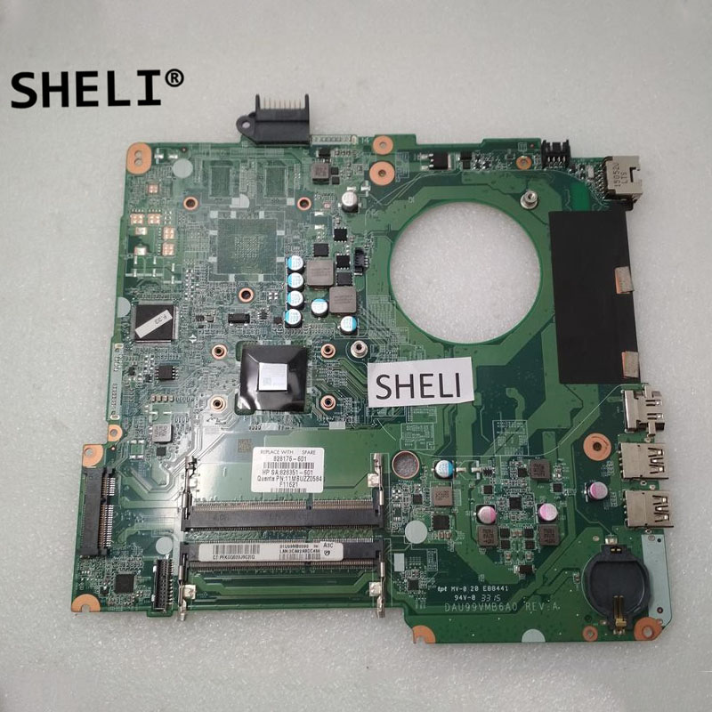 SHELI For HP 15-F337WM 15-F Motherboard with A8-6410 CPU 828176-601 828176-001SHELI For HP 15-F337WM 15-F Motherboard with A8-6410 CPU 828176-601 828176-001