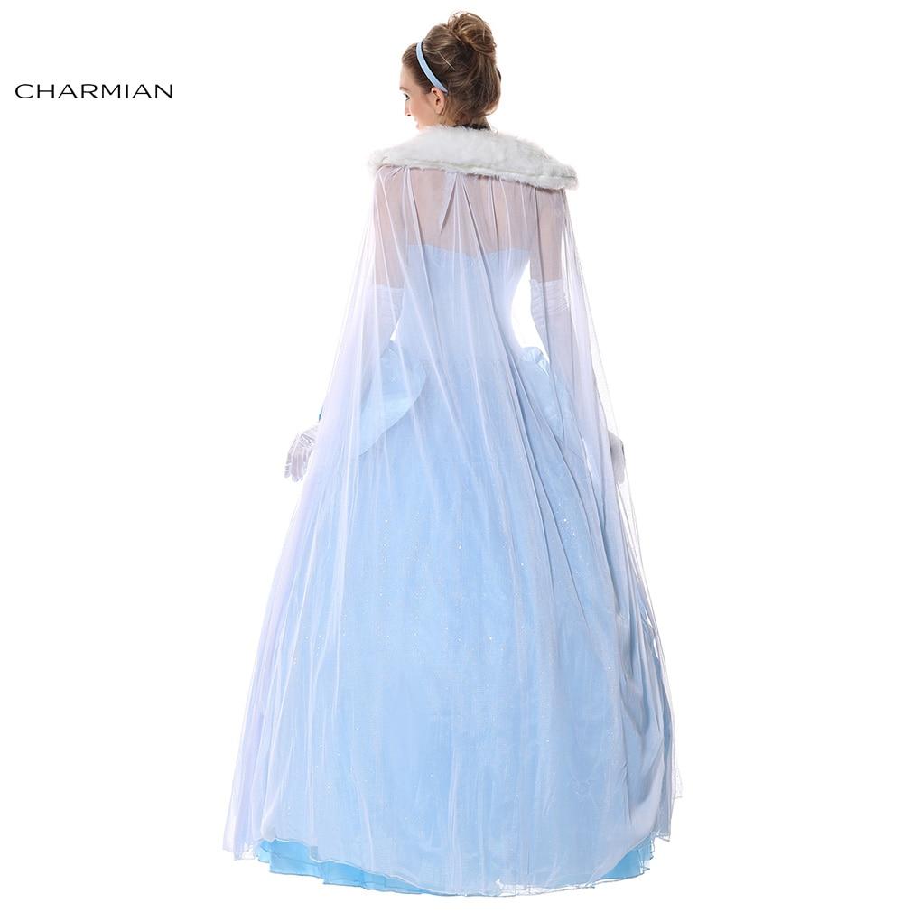 Charmian Cinderella Costume Fancy Princess Ball Gown Halloween ...