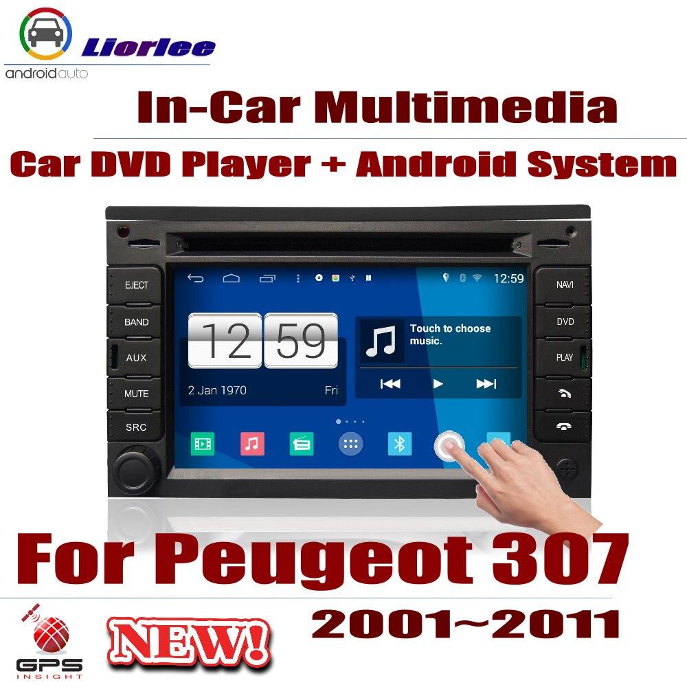 Autoradio lecteur dvd navigation gps Pour Peugeot 307 2001 ~ 2011 Android HD Displayer Système Audio Vidéo Stéréo Au Tableau de Bord Unité de Tête