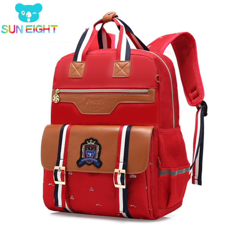SUN EIGHT Hot Orthopedic Backpack School Bag For Girl Oxford Backpack Children School Bookbag Girl's School Bags Handbag