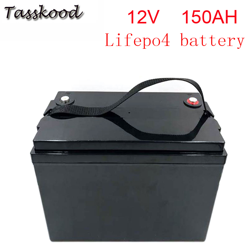 No taxes <font><b>12V</b></font> <font><b>150AH</b></font> True Rating <font><b>LiFePO4</b></font> Lithium Battery Pack in ABS Box for RVs, Campers, Boats and Solar System image