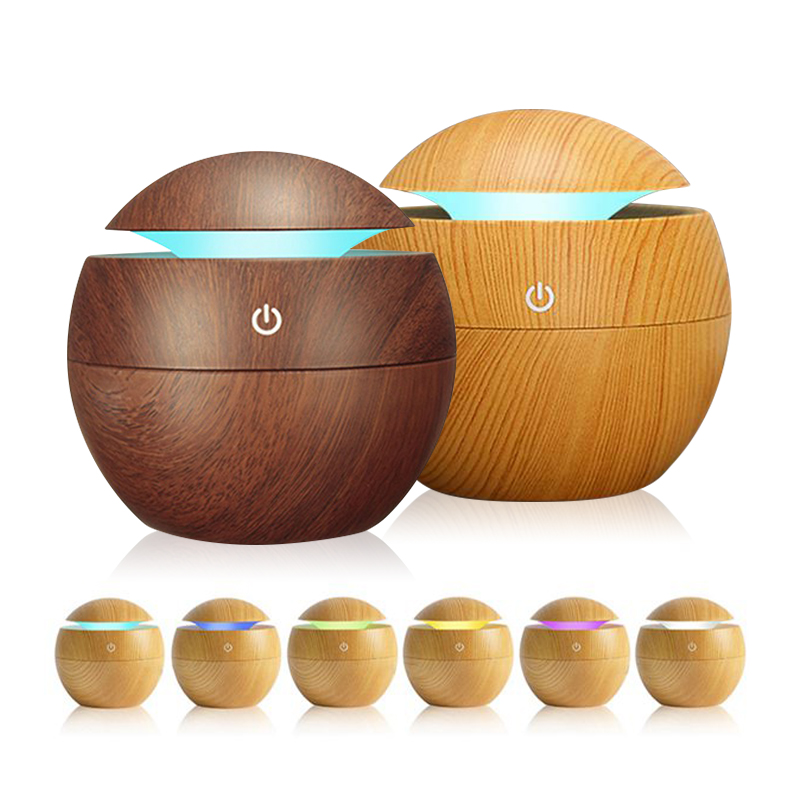 Ultrasonic Air Humidifier USB Aroma Essential Oil Diffuser Mist Maker Car Air Freshener Purifier 7 Color Change LED Night Light