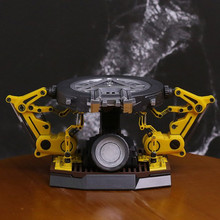 Железный человек дуги Реактор с светодиодный свет 1/12 Весы рисунок База и съемная козловой руки фигурку Коллекционная модель игрушки l1318