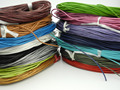 38 Colors Avail.--25Yards 1.5mm Soft Round Real Leather Jewelry Cord Beading Cord For Necklace Bracelet DIY