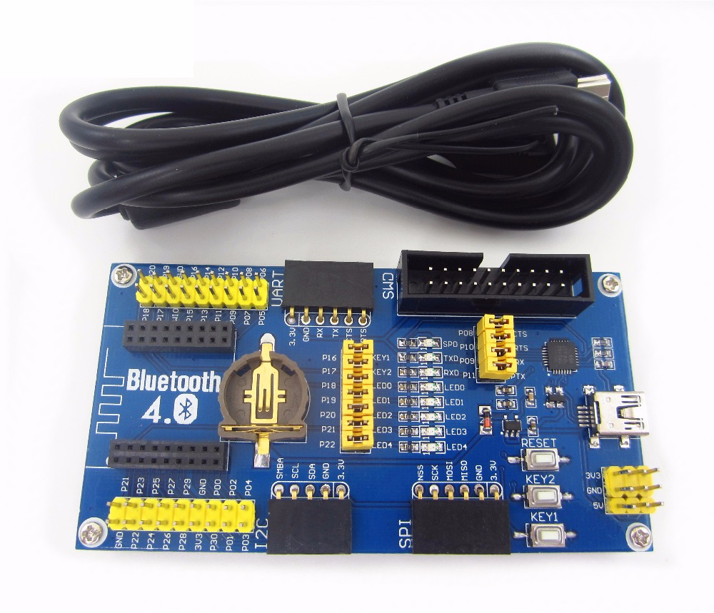 HAILANGNIAO new 1pcs NRF51822 development board ble4.0 Bluetooth module development board 2.4G low power Kit ...