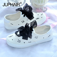 JUP Small Fresh Hand Painted Shoes Women S Graffiti Canvas Shoes College Girl White Simple Breathable