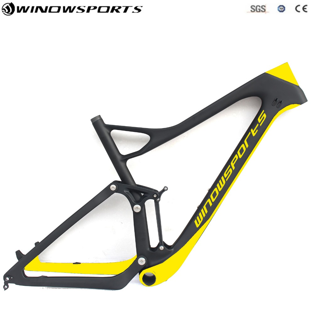 29er Full Suspension mtb Frame Enduro bikes 29er XC Bike 165*38mm Travel Mountain Bike Frame 29er 15.5/17.5/19/21inch 17 inch mtb bike raw frame 26 aluminium alloy mountain bike frame bike suspension frame bicycle frame