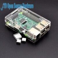 Raspberry Pi 3 Model B Board+shell Heat sinks 1GB LPDDR2 Quad Core WiFi&Bluetooth