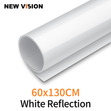 Fondo fotográfico blanco de 60x130cm, 24x51 pulgadas, papel de reflejo mate, vinilo de PVC, sin costuras, resistente al agua