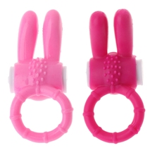 2 Colors Silicone Rabbit Vibrating Penis Clit Stimulator Vibrator for Couples 3.5x8cm