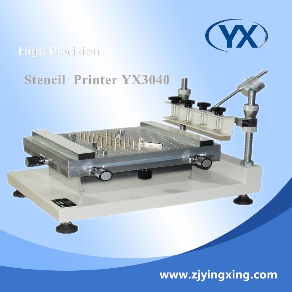 YX3040 industriel SMT pochoir imprimante machine manuel écran imprimante solaire système de montage