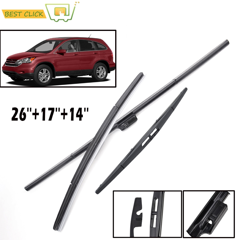 Misima Windscreen Wiper Blades For Honda CRV CR-V 2007-2011 3rd Generation Windshield Front Rear Set 2008 2009 2010 26