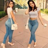 2017 Pantalones De Algodón Para Mujeres Atractivas Flacas de Cintura Alta Empuja Hacia Arriba Delgada de Inverno Denim Jeggings de Las Polainas Pantalones