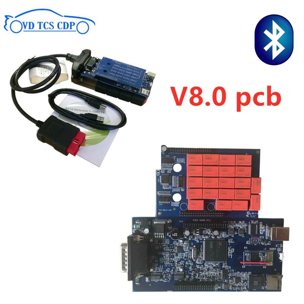 VD TCS CDP 2016R0 keygen with bluetooth Scanner for delphis vd ds150e cdp obd obd2 diagnostic