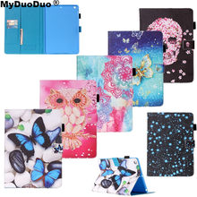 Tablet Cover For Apple iPad Air Case Owl Butterfly Flower Print Soft Back Cover Book Stand For iPad Air 1 Ipad 5 PU Leather Case(China)
