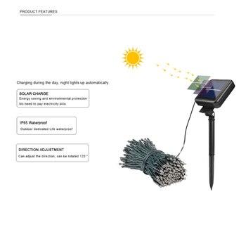 Led Solar String Fada Luz 12 M 100 Leds 22 M 200 Leds Qualidade Premium à Prova Dwaterproof água Energia Solar 7 Cores Para A Decoração Do Jardim