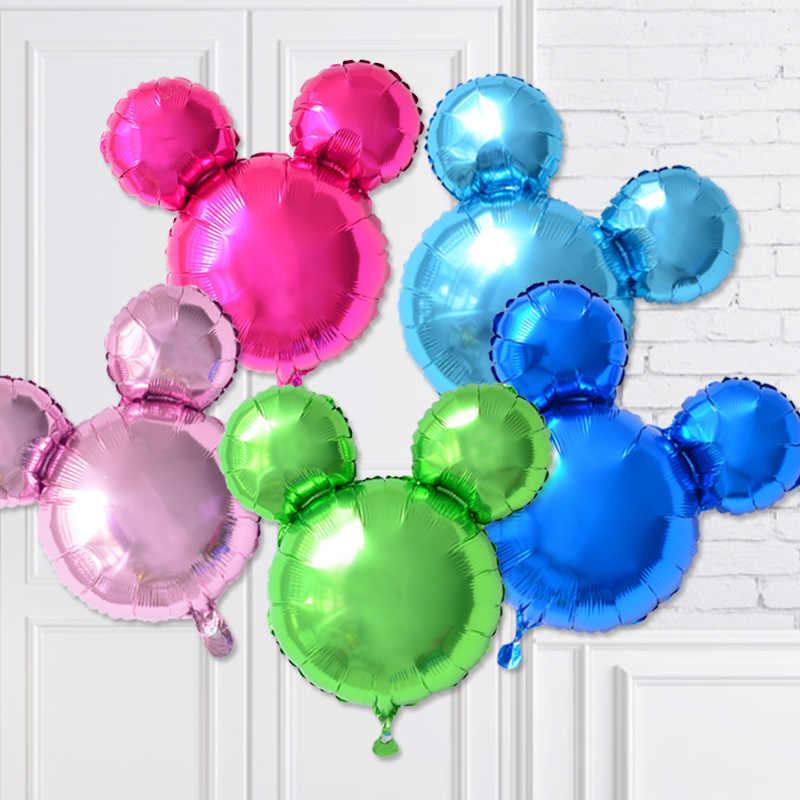 Уши Микки украшения для вечеринки, дня рождения шары для мальчиков и девочек день рождения, детский душ баллоны 1st мультфильм вечерние свадебные детские игрушки Globo