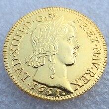 Louis XIV, Louis d,or a la meche longue, 1651 A, Paris, Gadoury… Copy coins
