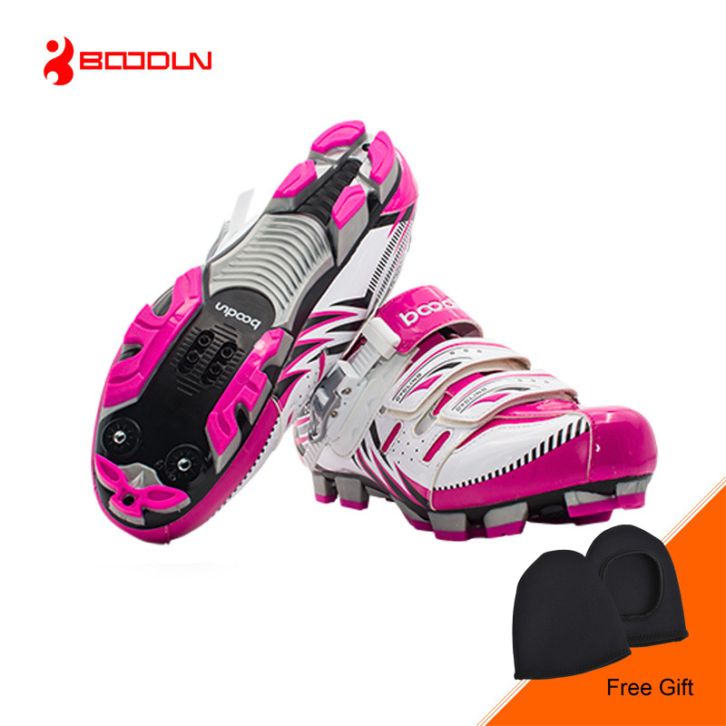 BOODUN High Quality Women Cycling Shoes Anti-slip Breathable Mountain Bike Shoes Outdoor MTB Athletic Shoes bicicleta Sapatos women s cycling shorts cycling mountain bike cycling equipment female spring autumn breathable wicking silicone skirt