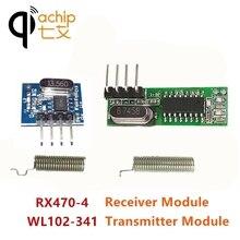 QIACHIP 433 Mhz RF 433.92 Mhz Telecomando Senza Fili Ricevitore e Trasmettitore Supereterodina CHIEDERE OOK Modulo Per MCU Arduino UNO