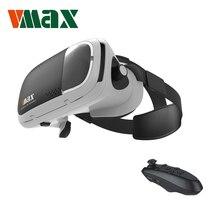 """RITECH VMAX VR Виртуальная Реальность 3D Очки Гарнитура для 4.7-6.0 """"Смартфоны с Bluetooth Пульт дистанционного управления для Samsung S8"""