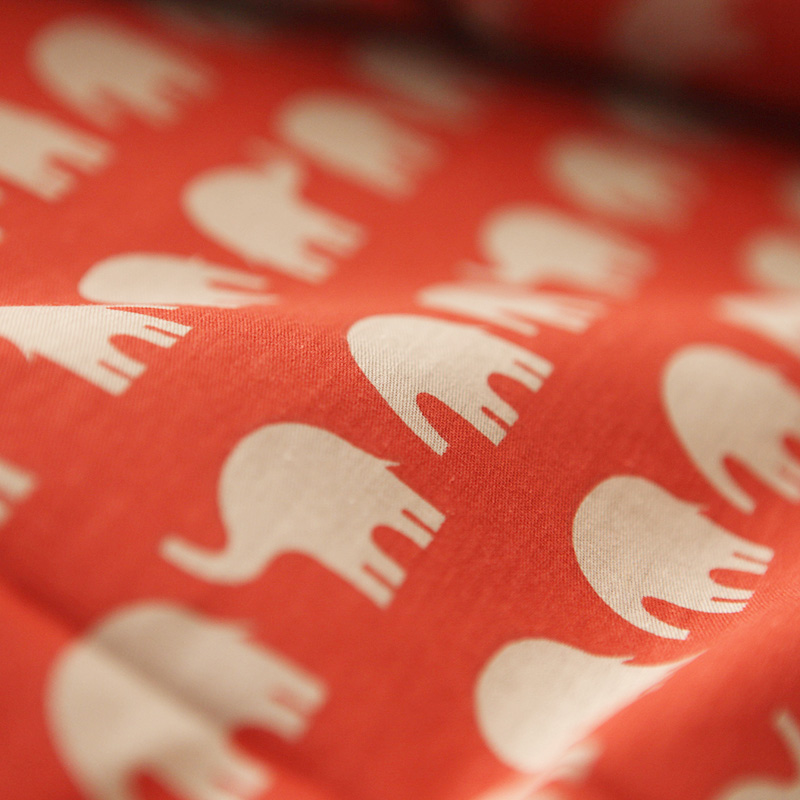Хлопок Япония Стиль С Рисунком Слона красные удобные постельных принадлежностей пододеяльник набор простыней пододеяльник одеяло наволоч