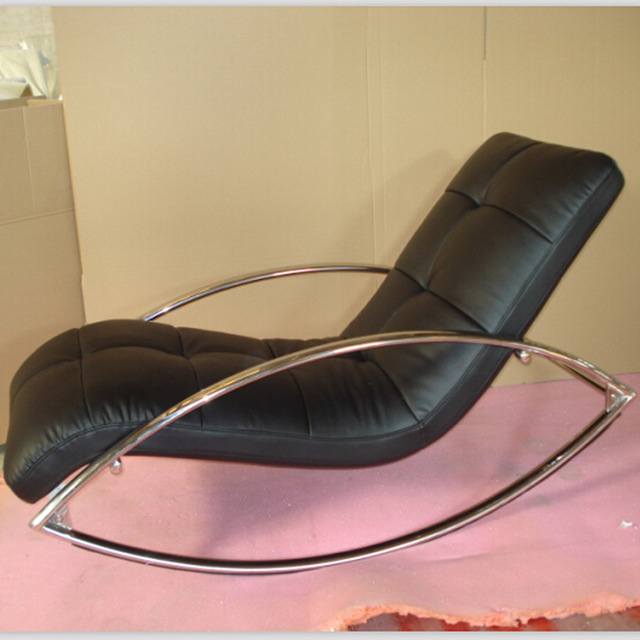 Merveilleux Leather Recliner Sofa Leisure Chair Balcony Lazy Siesta Sleep By Rocking  Chair Happy Chaise Longue Furniture