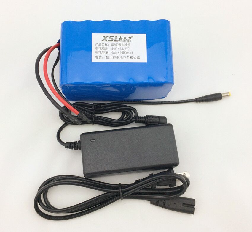 24v 6Ah 6S3P 18650 Lithium Battery 25.2 The electric bike moped / electric / lithium-ion battery + 25.2 In 1A charger 30a 3s polymer lithium battery cell charger protection board pcb 18650 li ion lithium battery charging module 12 8 16v