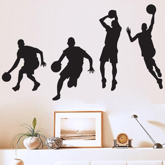 Chaude Stickers Muraux Décoration D'Intérieur Basketball Sport