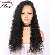 Elva Hair Pre Plucked Silk Base Lace Front Human Hair Wigs For Black Women Water Wave Brazilian Remy Hair Wigs With Baby Hair