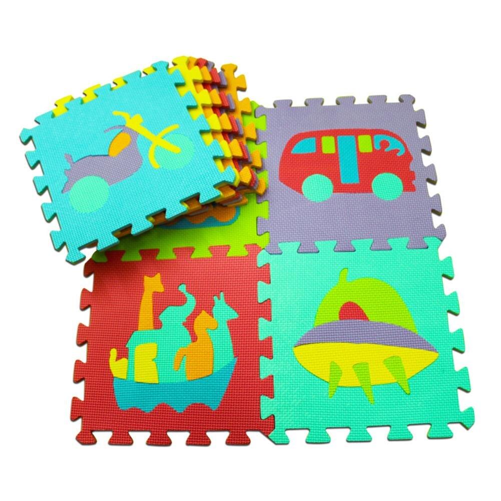 Baby Gyms & Playmats 10 Pcs Eva Puzzle Mat Pattern Foam Playmat 30*30cm Environmentally Animal Fruit Car Crawling Mat Rug Early Education