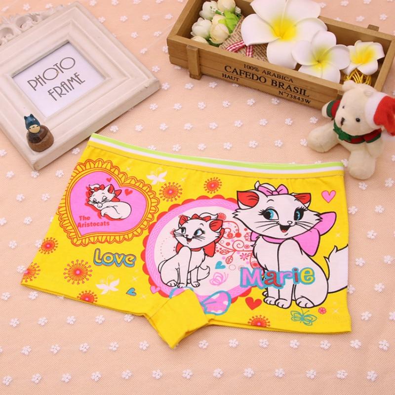 6Pcs/Lot Children's Underwear Cotton Cute Cat Girls Underwear Boxer Briefs New HTNN441 breathe geo printed boxer briefs