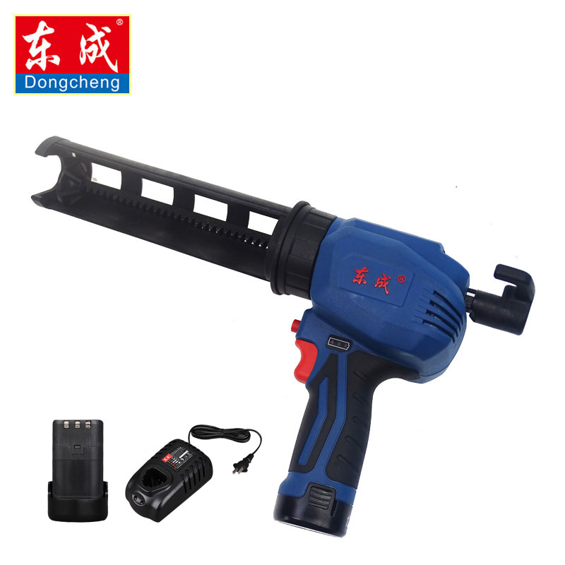 Dongcheng 12V Cordless glue gun 300ml Glue gun for barrel packaging glue (2Pcs battery) syds 6pcs sealed guitar string tuning pegs tuners machine heads 6r
