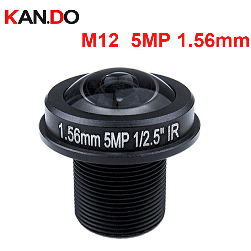 Fisheye 5.0mp M12 1.56mm CCTV Lens M12 IR 1/2.5 5.0Megapixel For HD IP Camera 185D Wide Angle Panoramic Lens 5megapixel 1 7mm fisheye lens for hd cctv ip camera m12 mount 1 2 5 f2 0 compatible wide angle panoramic cctv lens