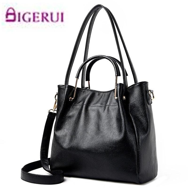Bolsos de cuero de moda bolsos de las mujeres de la marca de lujo de cuero real damas mujeres Messenger Bags Hombro A36