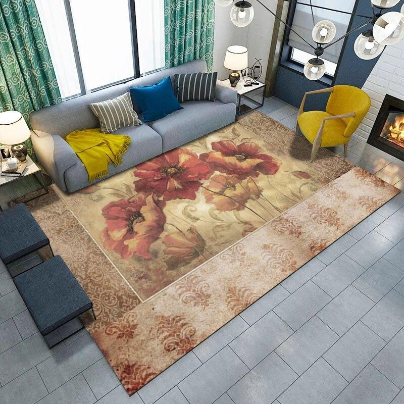 Nordic 200 300cm large carpets flower living room bedroom for Fleece tapete