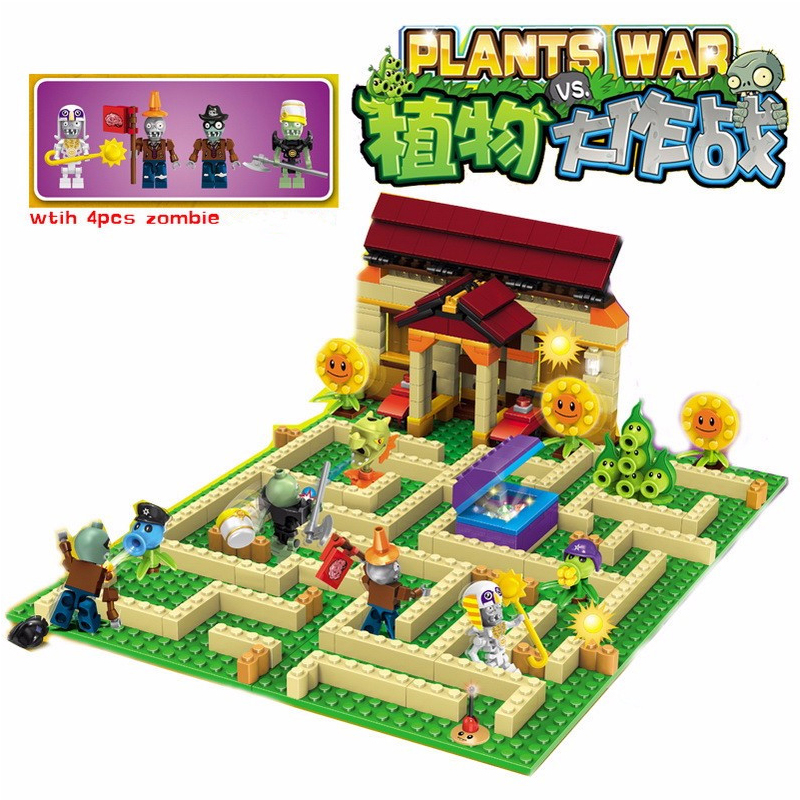 2 Style Plants Vs Zombies Can Shoot Struck Game Action Toys & Figures Building Blocks Bricks Compatible Legoingly Gifts