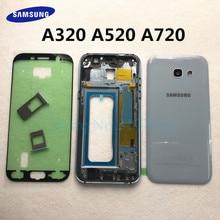 A720 A320 A520 pokrywa baterii do Samsung Galaxy A3 A5 A7 2017 A320F A520F A720F tylna pokrywa + bliski rama pełna obudowa
