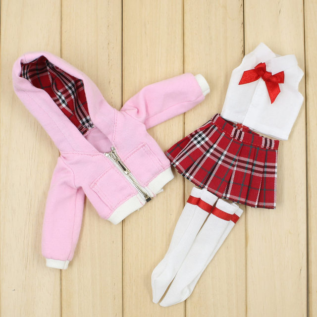 Clothes for 1/4 BJD school uniform  outfit suitable for bjd body no for ICY and blyht fashion gift
