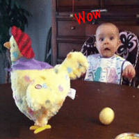 1pc Trick Hen Lay Egg Shocker Joke Gift For Children Antistress Gadget Interesting Games Indoor Or