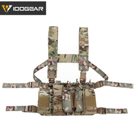 IDOGEAR Tactical Chest Rig D3CR Plate Carrier Vest Cordura Airsoft Military Tactical Molle Magazine Pouch Chest Rig 3307