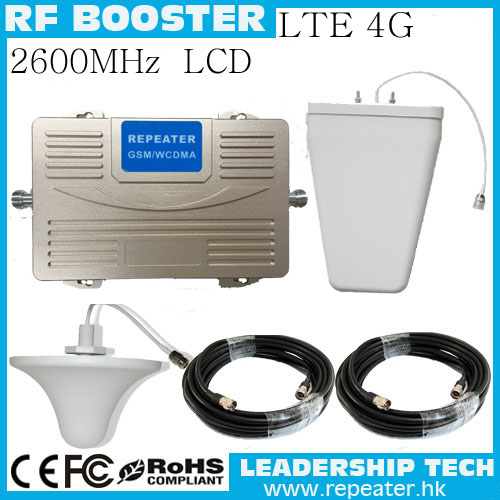 1 Set Wholesale Hot RF LTED 4G 2600MHZ 65dB Cellular Mobile/cell Phone Signal Repeater Booster Amplifier Detector