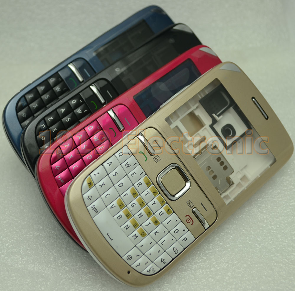 New Full Complete Mobile Phone Housing Cover Case+English Or RUSSIAN +Arabic Keypad For Nokia C3-00 C300 C3