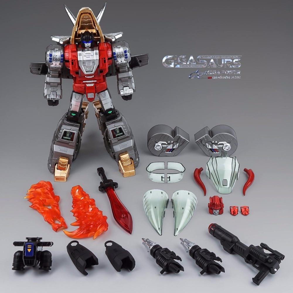 [Show.Z Store] Gigapower GP HQ-02 Metallic Version Grassor Transformation Slag WCA Action Figure