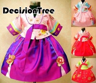 2019 nouveau modèle coréen enfants robe princesse robe ethnique coréen photographie vêtements filles danse porter hanbok