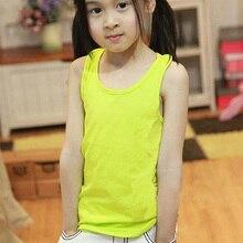 Fashion Summer Baby Girls Modal Plain Vest Tank Kids Boy Casual T-shirt Tee Tops Clothing